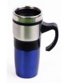 Dubbelwandige koffie beker blauw 400 ml