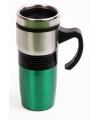 Dubbelwandige koffie beker groen 400 ml
