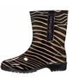 Halfhoge dames regenlaarzen zebra print