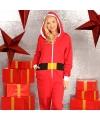 Kerstman onesie voor dames