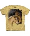 Kinder dieren T-shirt Paard met veulen