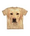 Kinder honden T-shirt blonde Labrador