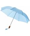 Kleine paraplu lichtblauw Ø 93 cm