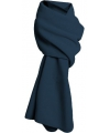 Lange navy blauwe fleece sjaal