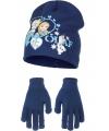 Muts en handschoenen Frozen blauw