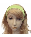 Neon groene haarband