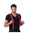 Neon roze bretels voor volwassenen