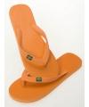 Oranje teenslippers voor dames