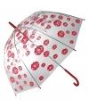 Paraplu met kusjes 85 cm