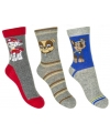 Paw Patrol jongens sokken 3-pak grijs