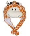 Pluche giraffe muts voor kinderen