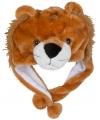 Pluche leeuwen muts voor kinderen