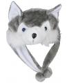 Pluche wolf muts voor kinderen
