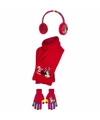 Rode Minnie Mouse winterset 3 delig