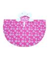 Roze bloemen poncho voor meiden