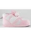 Sneaker sloffen meisjes roze/wit