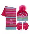 Trolls winter accessoires set roze voor kinderen