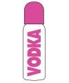 Vodka roze drinkfles voor babys 15 x 8 cm