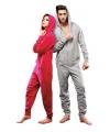 Warme onesie jumpsuit voor dames