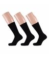Zwarte dames sokken 3 paar maat 35/42