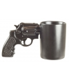 Zwarte pistool mok 12 x 21,5 cm